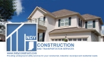 Indy Construction Business Card Back
