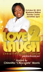 "Distinctive Marketing's ""Love 2 Laugh"" Business Card Front side"