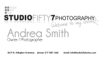 Business Card for Studio 57 Photography (front)