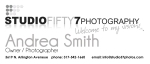 Mini Business Card for Studio 57 Photography (front)